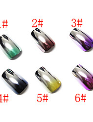 72x Nail Art Acrylic Nails Plating Metal False  Gradient Tips