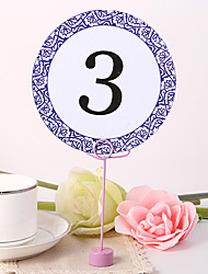 Round Table Number Card - Lilac Decorative Design
