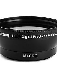profesional de 49mm 0.45x gran angular y macro objetivo de conversión