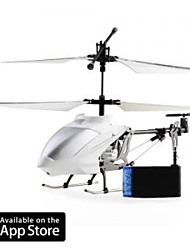 3 Channel I-Helicopter 777-173 White with Gyro Controlled by iPhone/iPad/iPod Touch White (777-173W)