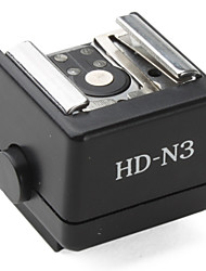 adaptador de flash de sapata hd-n3