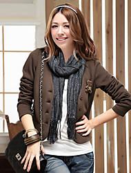 Bear Design V-neck Coat