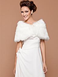 Wedding Faux Fur Shawls Sleeveless