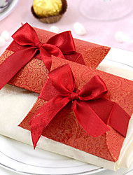 Classic Wedding Favor Box With Ribbon (Set of 12)