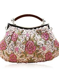 Hand-Made Flower Pattern Evening Bag