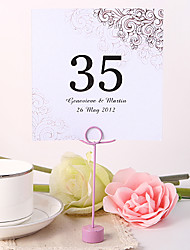 Place Cards and Holders Personalized Square Table Number Card - Sculpture