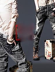высотные отверстие Жан узкие брюки