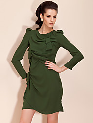 TS Bow-tie Structured Long Sleeve Dress