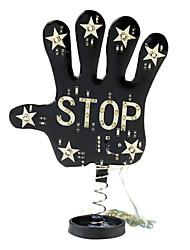 Black Palm Stop Sign Shake Car LED Warning Light