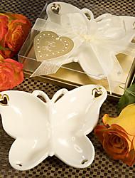 Butterfly-shaped Plate, Porcelain W12.5cm x L9cm x H4cm