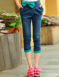 Bow Crop Jeans