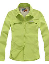 Eamkevc manga mulheres secagem rápida camisa anti vermelho uv permeabilidade da umidade, verde, amarelo