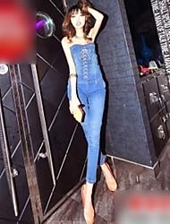 Sleeveless Jean Jumpsuit