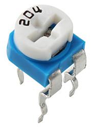204 resistor ajustável (200k ohm, 10 peças por pacote)