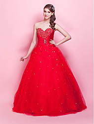 Princess Strapless Sweetheart Floor Length Tulle Prom Dress by TS Couture®