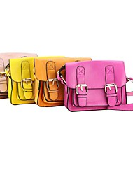 Fashionable PU Kids Satchel with double locks