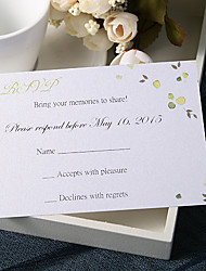 Personalize Wedding Response Cards - Yellow Flowers(Set of 50)