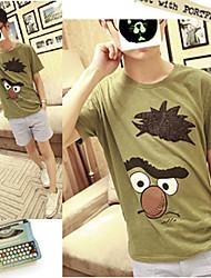 coton mens oiseaux d'impression mince t-shirt