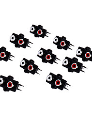 AV2-7 RCA Jack Socket for Electronics DIY Use (10 Pieces a Pack)