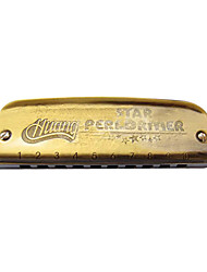 Huang - (102-B) Blues Harp Archaize Boat Harmonica 10 Holes/20 Tones/Aluminum Comb