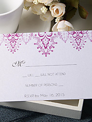 Personalize Wedding Response Cards - Purple Lights (Set of 50)