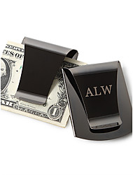 Gift Groomsman Personalized Smart Money Clip-Black