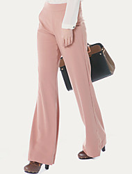 elevados cintura larga calças nas pernas