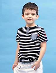 rayé garçon correctif poche t-shirt