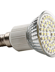 3W E14 Spot LED MR16 48 SMD 3528 150 lm Blanc Naturel AC 100-240 V