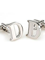 26 lettres D boutons de manchette de style