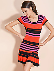TS Bright Stripe Wool Dress