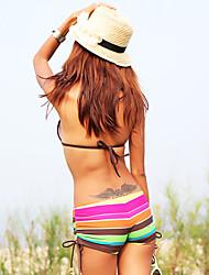 bunte Streifen getrennt Bikini
