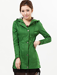 Womens Skinny Jacket with Zipper and Hat