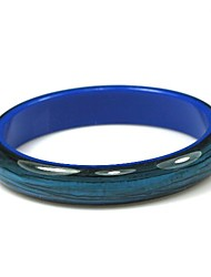 Ladies' Resin Round Bangles Classic Bracelet With Blue Veins