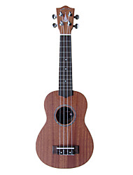 hanknn - (5210h) ukulele soprano sólido de mogno com bag / string / picaretas