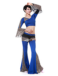 Dancewear Viscose/Tulle With Animal Print Belly Dance Outfit For Ladies