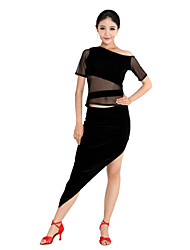 Dancewear Mercerized Cotton Latin Dance Outfit For Ladies