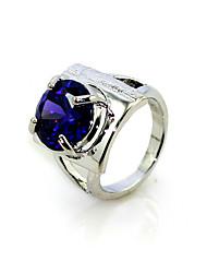 lussuoso cubic zirconia platinato forma di anello di moda