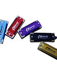 Kaine - (K4-2) Mini Key Chain Harmonica C key/4 Holes/8 Tones (Random Color)