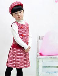 meninas colete de lã vestido de princesa (enviar boinas)