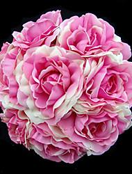 Elegant Round Shape Satin Wedding Bridal Bouquet (More Colors)