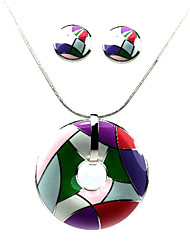 Ladies' Jewelry Sets Including Necklace & Earrings With Kaleidoscope Style