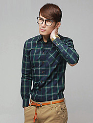 Mens 'check shirt met lange mouw