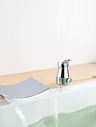 faucet da cachoeira banheira com chuveiro de mão (acabamento cromado)