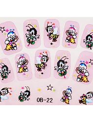 корейских мультфильмов 3d ногтей наклейки