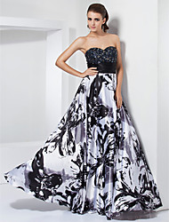 Prom / Formal Evening / Military Ball Dress - Floral / Elegant Plus Size / Petite A-line / Princess Strapless / Sweetheart Floor-length