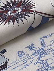 "Mediterranean Novelty Poly / Cotton Blend Print Fabric (Fabric Weight-Medium) - Width=110"" (280 cm)"