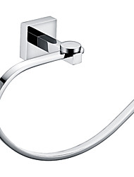 Bathroom Accessories Brass Chrome Finish Towel Ring
