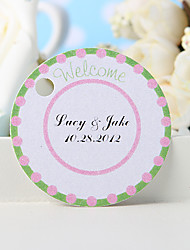"Personalized Favor Tag - Green ""Welcome"" (Set of 36)"
