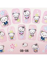 Korean Cartoon Series 3D Nail Sticker